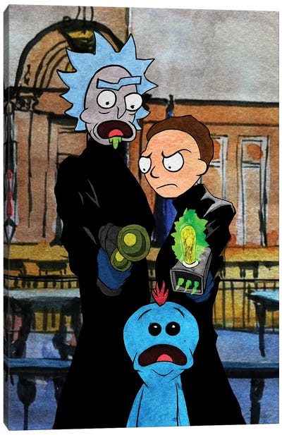 Rick And Morty Boondock Saints Canvas Art Print