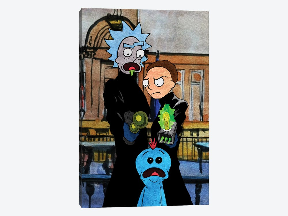 Rick And Morty Boondock Saints by Kyle Willis 1-piece Art Print