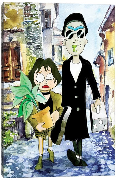 Rick And Morty Leon The Professional Canvas Art Print