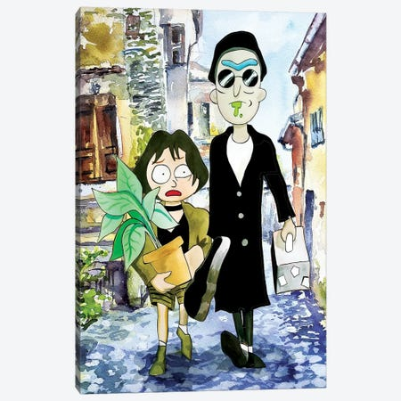 Rick And Morty Leon The Professional Canvas Print #KYW29} by Kyle Willis Canvas Art