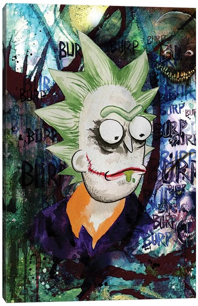 Rick And Morty Rick Joker Canvas Art Print