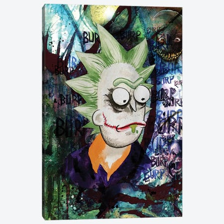 Rick And Morty Rick Joker Canvas Print #KYW31} by Kyle Willis Canvas Print