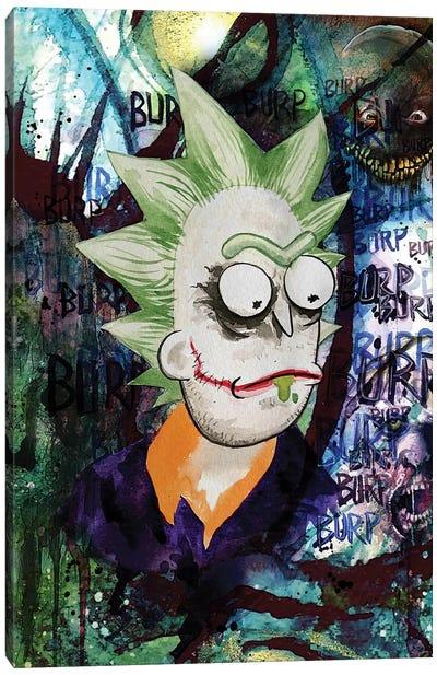 Rick And Morty Rick Joker Canvas Art Print