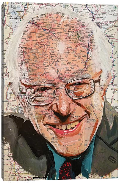 Bernie From Vermont Canvas Art Print