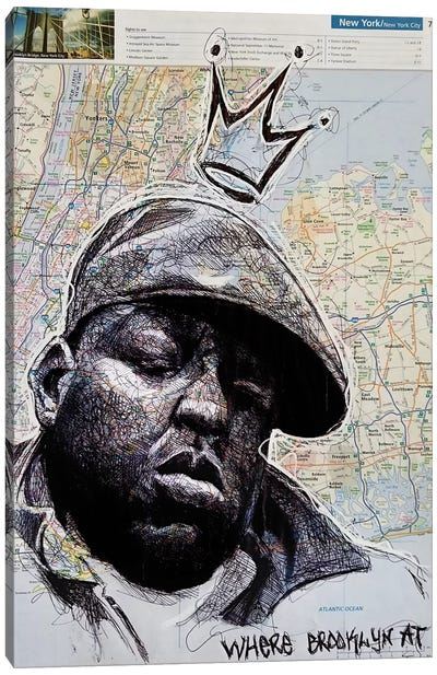 Biggie From New York Canvas Art Print