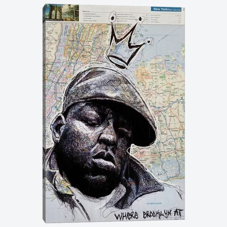 Biggie From New York 3-Piece Canvas #KYW34} by Kyle Willis Canvas Artwork