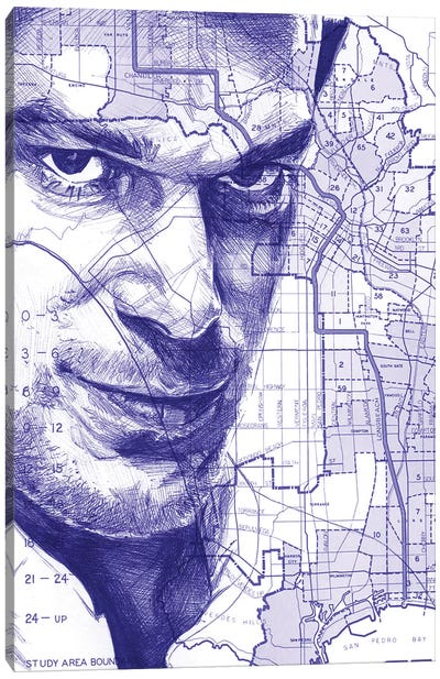 Dexter From Miami Canvas Art Print