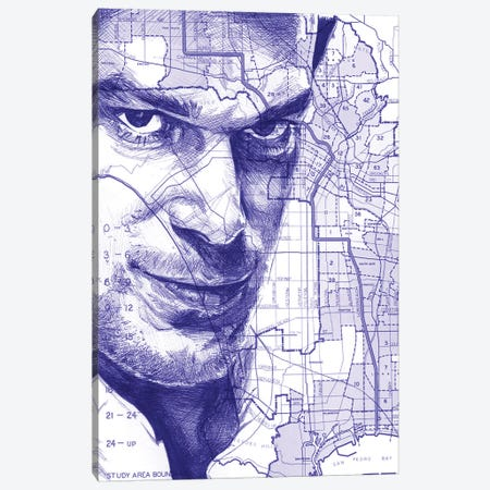 Dexter From Miami Canvas Print #KYW36} by Kyle Willis Canvas Art