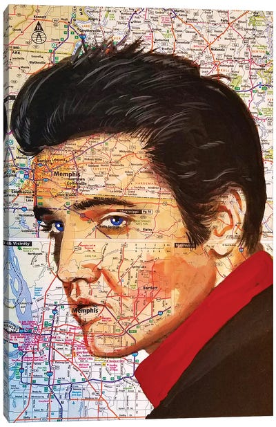 Elvis Canvas Art Print