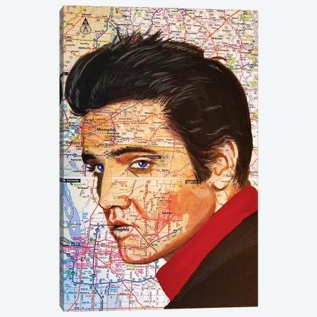 Elvis Canvas Print #KYW38} by Kyle Willis Art Print