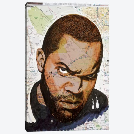 Ice Cube From California Canvas Print #KYW40} by Kyle Willis Canvas Art