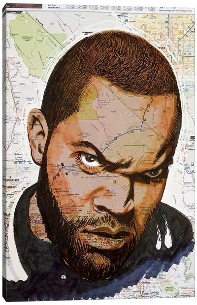 Ice Cube From California Canvas Art Print