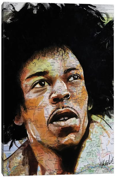 Jimi From Seattle Canvas Art Print