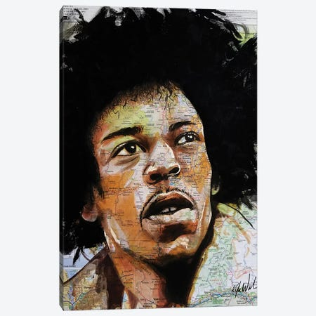 Jimi From Seattle Canvas Print #KYW42} by Kyle Willis Canvas Art