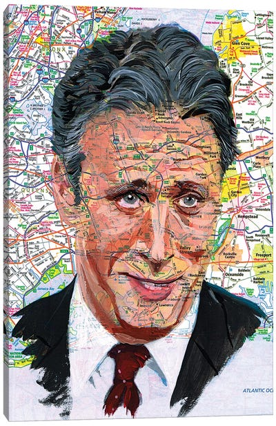 Jon Stewart Canvas Art Print