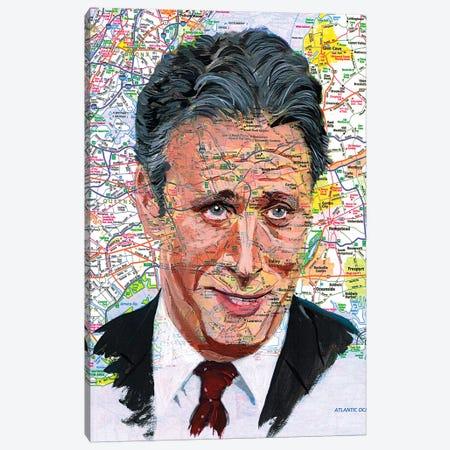 Jon Stewart Canvas Print #KYW44} by Kyle Willis Canvas Print