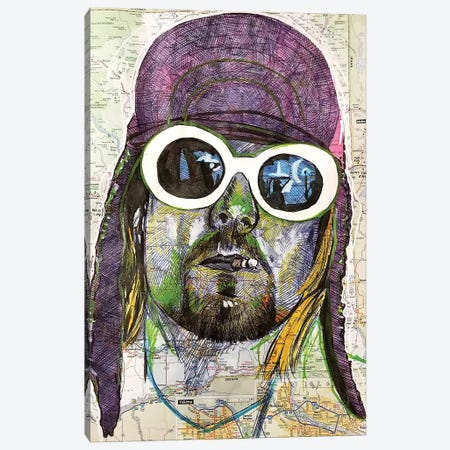 Kurt Cobain Canvas Print #KYW45} by Kyle Willis Canvas Print
