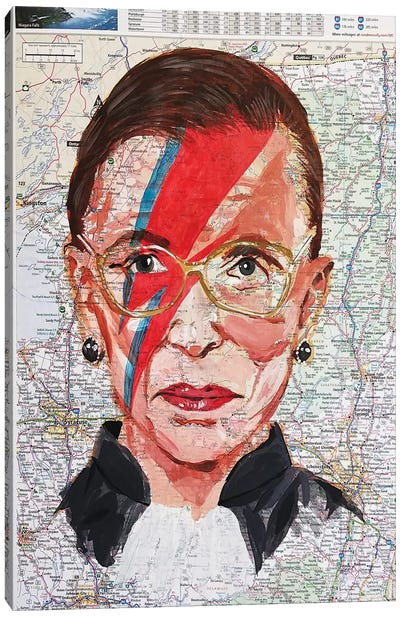 Ruth From New York Canvas Art Print