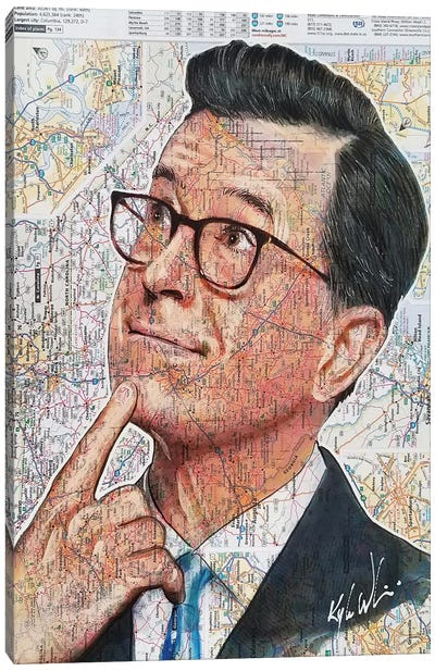 Stephen Colbert Canvas Art Print