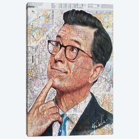 Stephen Colbert Canvas Print #KYW50} by Kyle Willis Art Print