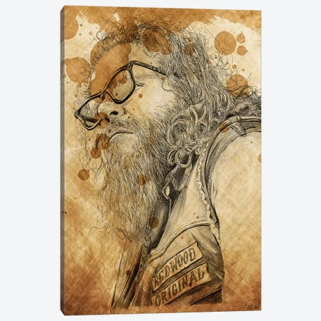 Sons Of Anarchy Bobby Elvis Oil Stained Canvas Print #KYW52} by Kyle Willis Canvas Print