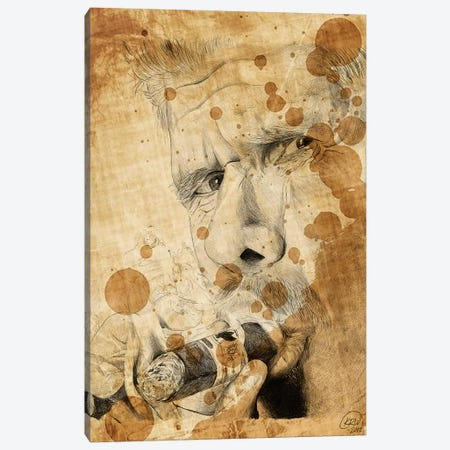 Sons Of Anarchy Clay Morrow Oil Stained Canvas Print #KYW53} by Kyle Willis Art Print