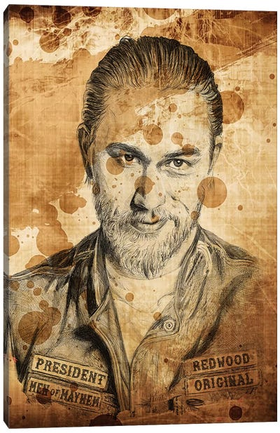 Sons Of Anarchy Jax Ballpoint Pen Canvas Art Print
