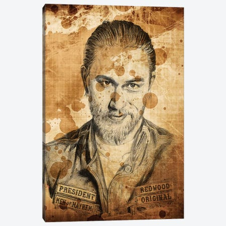 Sons Of Anarchy Jax Ballpoint Pen Canvas Print #KYW55} by Kyle Willis Canvas Art