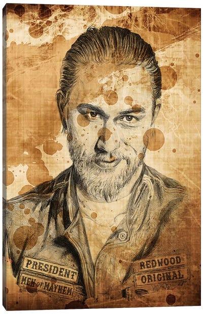 Sons Of Anarchy Jax Ballpoint Pen Canvas Art Print