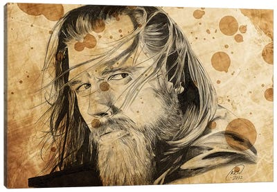 Sons Of Anarchy Opie Winston Oil Stained Canvas Art Print