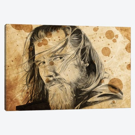 Sons Of Anarchy Opie Winston Oil Stained Canvas Print #KYW57} by Kyle Willis Canvas Art