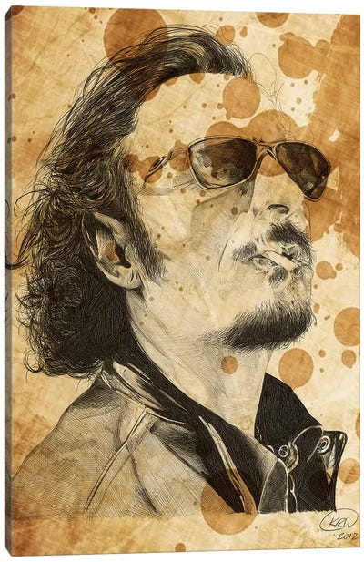 Sons Of Anarchy Tig Trager Oil Stained Canvas Art Print