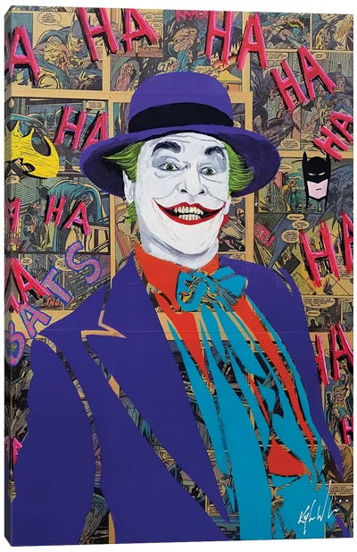 Batman Joker Jack Nicholson Canvas Art Print