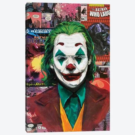 Batman Joker Joaquin Phoenix Canvas Print #KYW6} by Kyle Willis Canvas Art