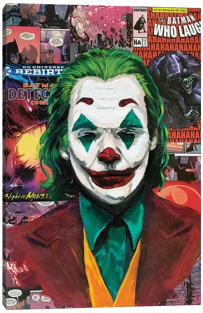 Batman Joker Joaquin Phoenix Canvas Art Print