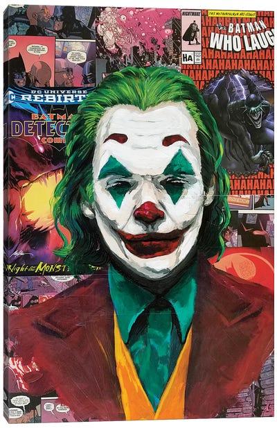 Batman Joker Joaquin Phoenix Canvas Art Print