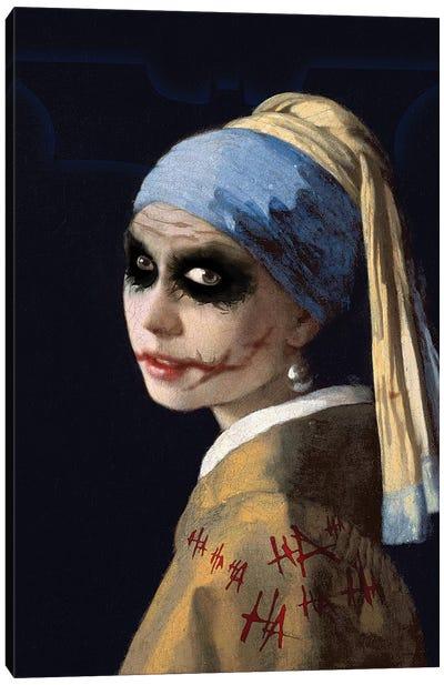 Batman Joker With The Pearl Earrings Canvas Art Print