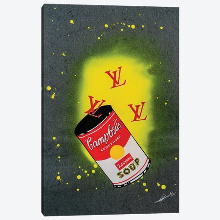 LV Soup Canvas Print #LAA11} by Noah Laatar Art Print