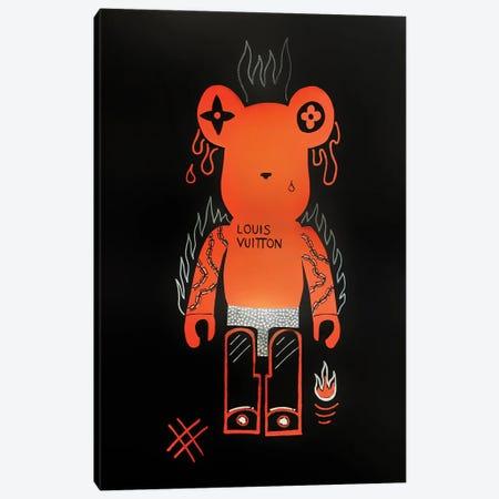 The Furious Bearbrick Canvas Print #LAA16} by Noah Laatar Canvas Artwork
