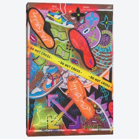 Do Not Cross Canvas Print #LAA2} by Noah Laatar Canvas Art Print