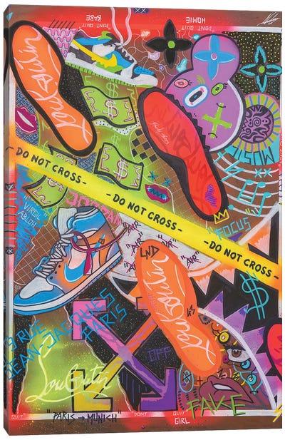 Do Not Cross Canvas Art Print