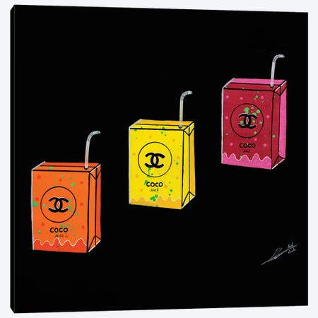 Coco Juice Canvas Print #LAA6} by Noah Laatar Canvas Art