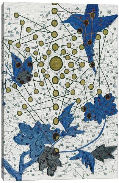 Chakra Web With Bird Canvas Art Print