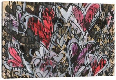 Watermelon Heart Canvas Art Print