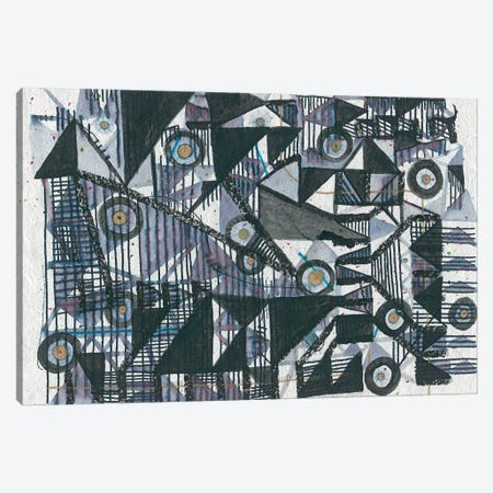 Circles & Triangles Canvas Print #LAB5} by Lori Arbel Canvas Art Print