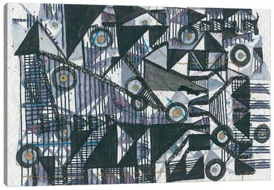 Circles & Triangles Canvas Art Print