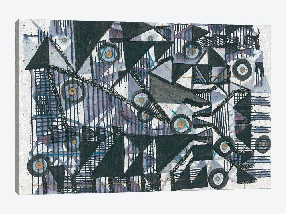Circles & Triangles by Lori Arbel 1-piece Canvas Wall Art