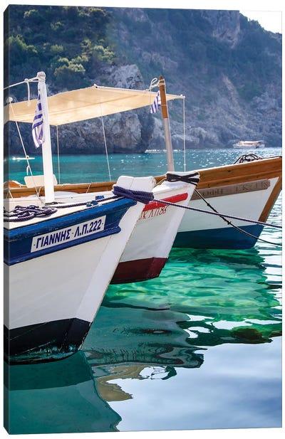 Workboats of Corfu, Greece II Canvas Art Print
