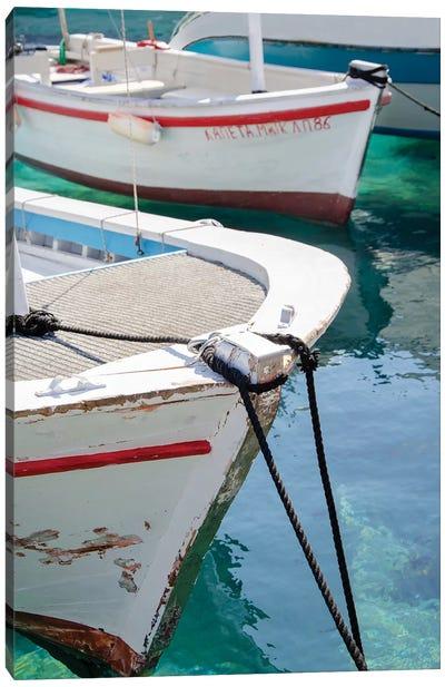 Workboats of Corfu, Greece III Canvas Art Print