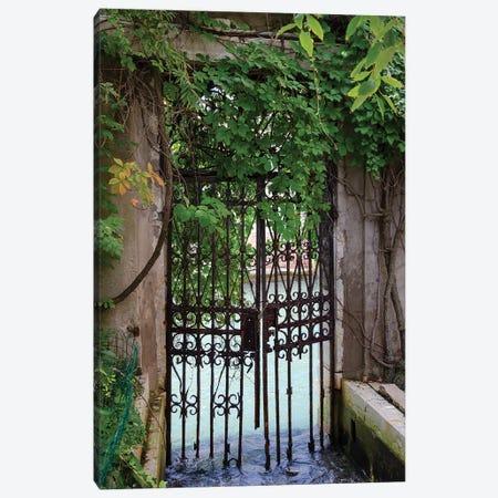 Elegant Canal Entrance Canvas Print #LAD1} by Laura DeNardo Canvas Artwork